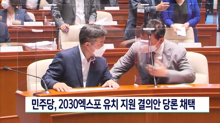 민주당 2030엑스포 유치지원 결의안 당론 채택