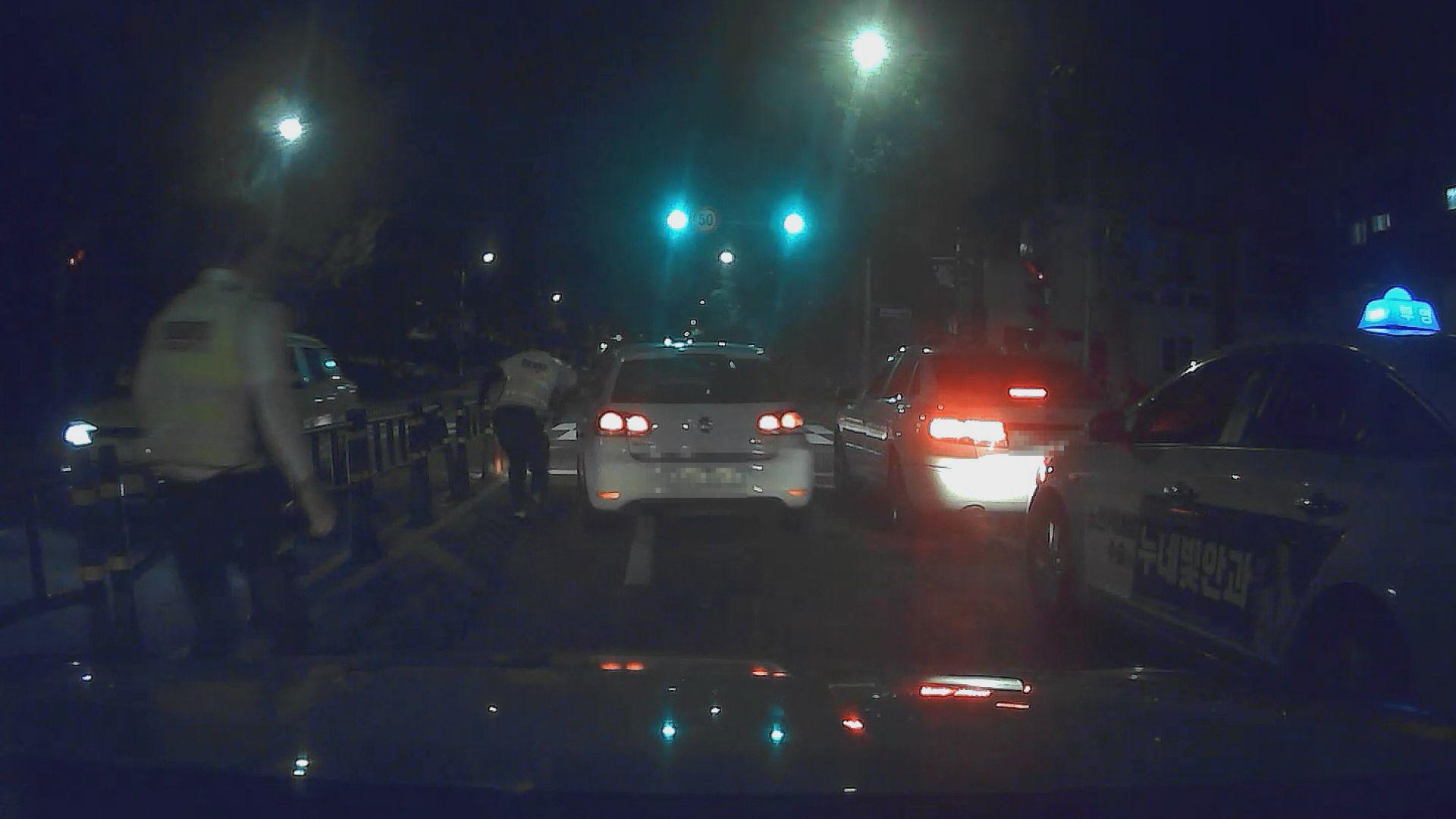 음주 운전 뒤 도주한 소방공무원 체포-부산 남부경찰서